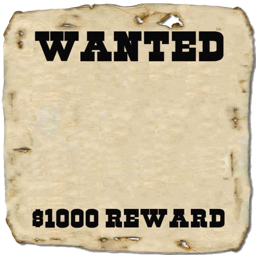 Wanted poster - Image Upload